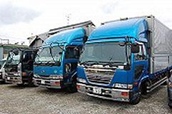 清潔できれいなトラック車両